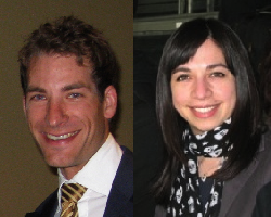 Headshot of Tim on left and headshot of Adrienne on the right