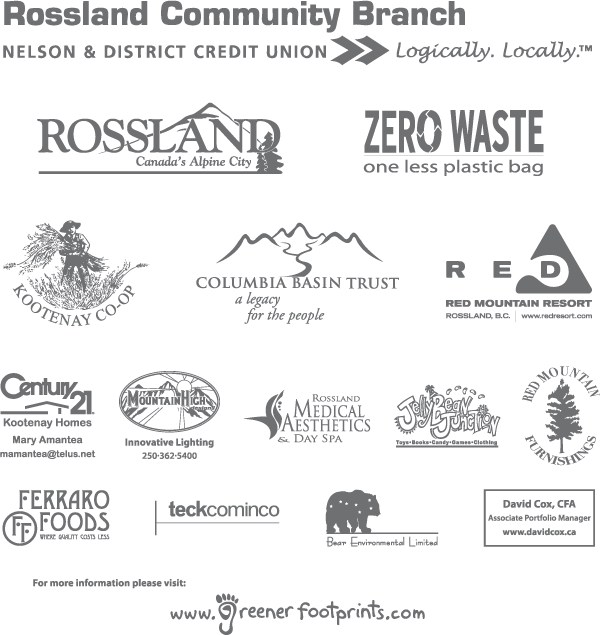 Rossland reusable bag sponsors 2007
